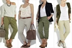 С чем носить брюки хаки