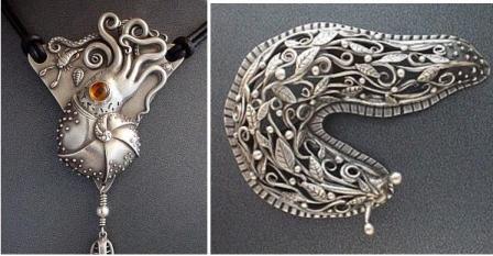 ювелирные изделия из металлической глины Gordon K.Uyehara.