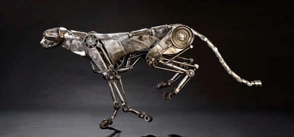 механические скульптуры в стиле стимпанк от Эндрю Чейза (Andrew Chase)