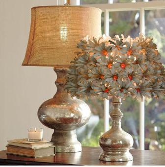 декор светильников из старых книг от Лори из Санкт-Чарльза