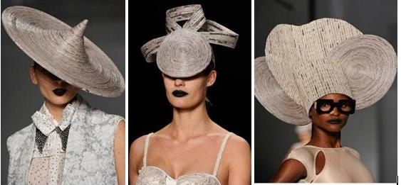 шляпки из газет от Futurearte