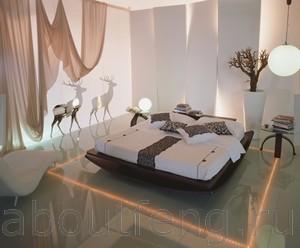 правильное направление кровати