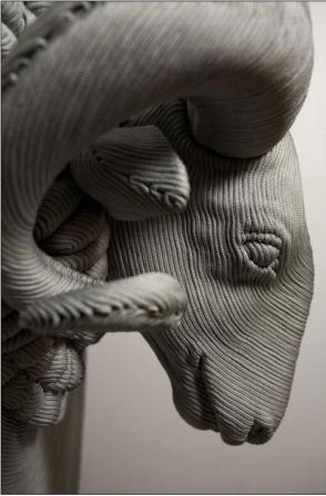 веревочные скульптуры от Моцарт аГуэрра (Mozart Guerrf).