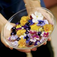 Цветы - красивая пища. Анютины глазки.