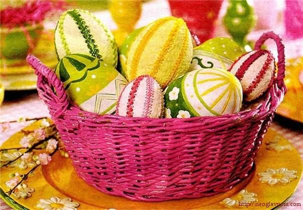 Как украшают пасхальные яйца?