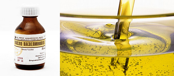 применение вазелинового масла